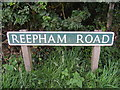 TG0927 : Reepham Road sign by Adrian Cable