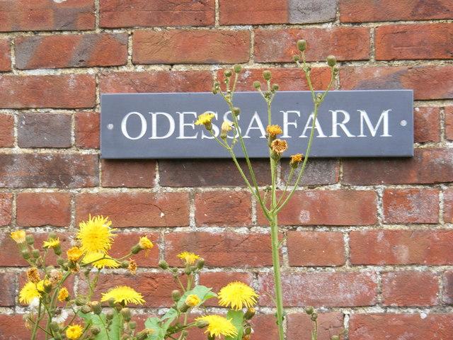 Odessa Farm sign
