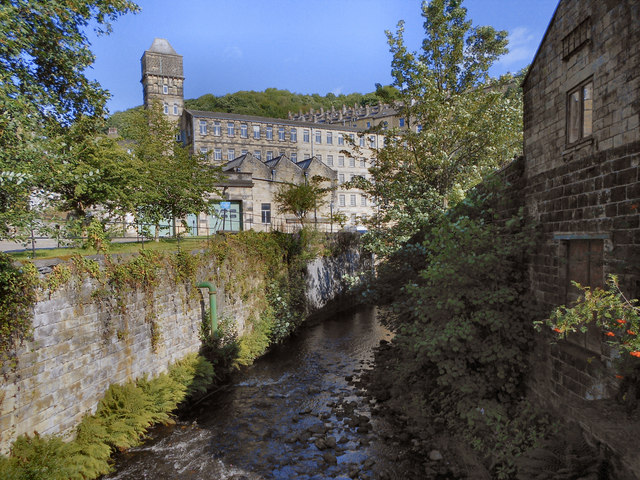 Hebden Water and Nutclough Mill