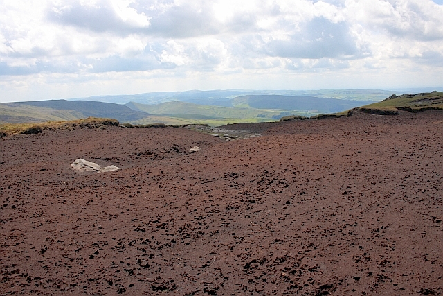 Exposed Peat on Kinder Scout
