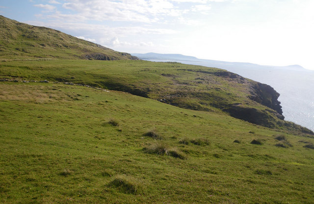 Grassy blufftop on western Horn Head