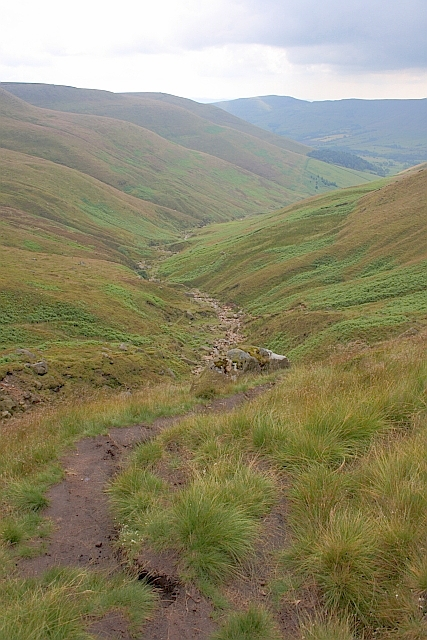 Footpath up Crowden Clough