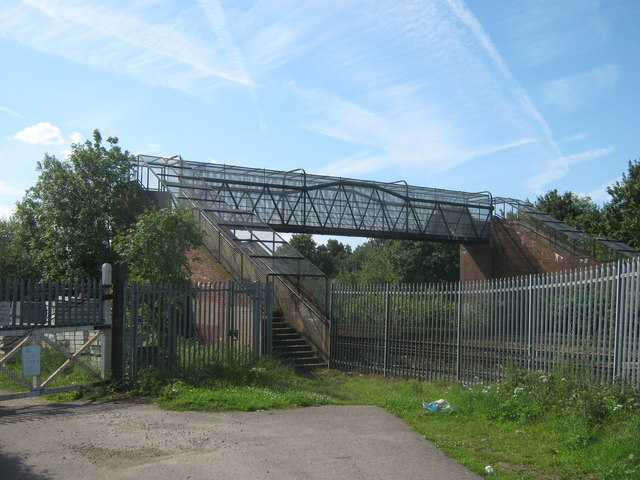 Footbridge near Swanley
