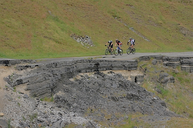 Cyclists on the Old A625