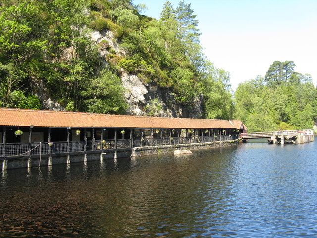 Landing stage at Loch Katrine