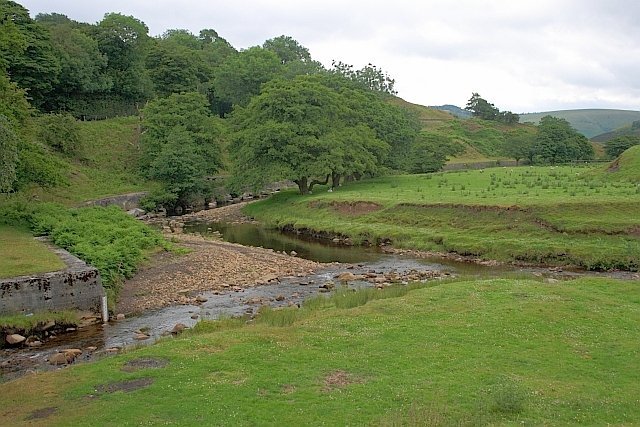 Confluence of the River Alport with the River Ashop