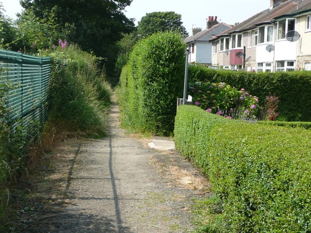Housing estate path, Mytholmroyd