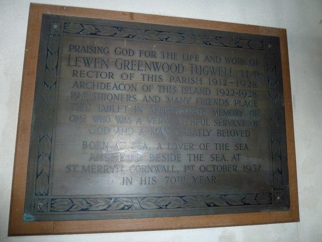 Saint Mary, Calbourne: memorial (7)