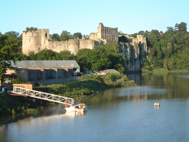 Chepstow castle, early one morning