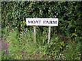 TM4365 : Moat Farm sign by Adrian Cable