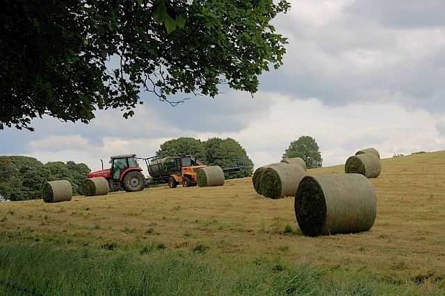 Bringing in the Haylage Bales, Smerrill Grange Farm