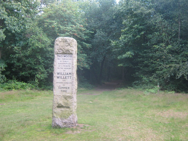 William Willett's memorial, Petts Wood