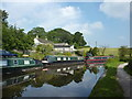 SJ9785 : Moored up on the Peak Forest Canal by Peter Barr