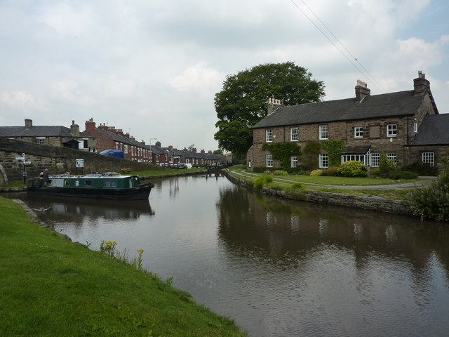 At the junction of two canals