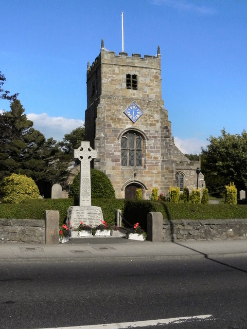 War Memorial and Parish Church, St Michael's on Wyre
