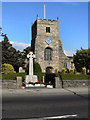 SD4641 : War Memorial and Parish Church, St Michael's on Wyre by David Dixon