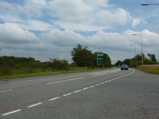 Weston Road east of its junction with Main Road