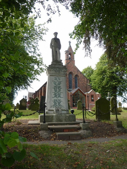 Christ Church, Wheelock, War Memorial
