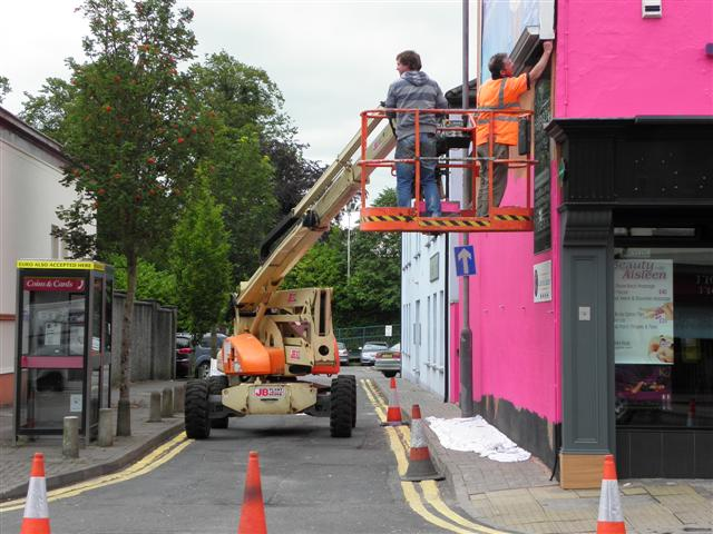 Painters at work, Campsie Road, Omagh