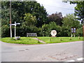 TM2351 : Burgh Village sign,Notice Board &amp; Roadsign by Adrian Cable