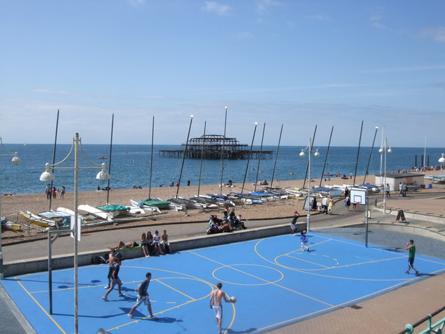 Basketball Court on Brighton seafront