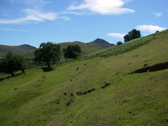 View towards Cribyn