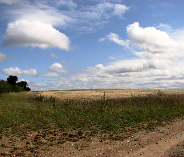 Big sky above harvested field, Burnham Thorpe