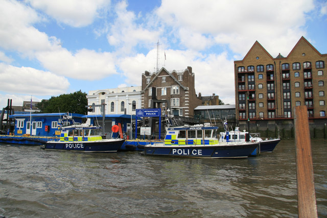 Metropolitan Police - station at Wapping on the Thames