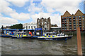 TQ3479 : Metropolitan Police - station at Wapping on the Thames by Chris Allen