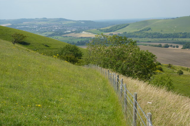 Lewes from Firle Bostal