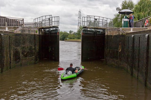 Leaving Sandford Lock going downstream