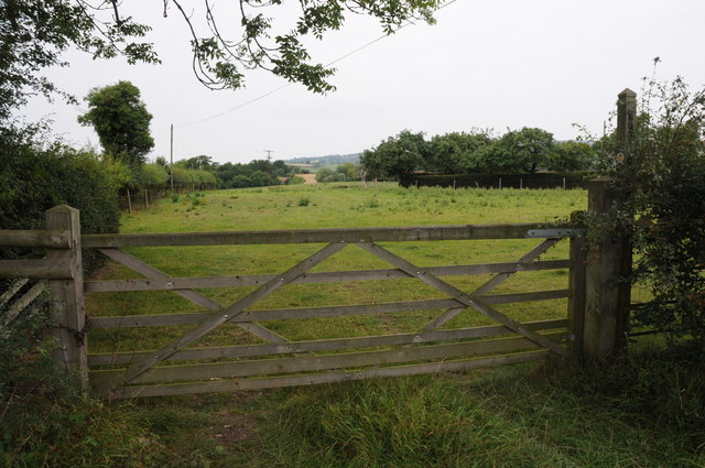 Gate into a field off Clee Hill Road
