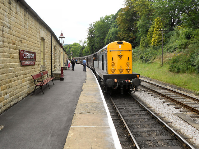 Diesel Train at Oxenhope