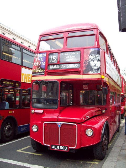 Number 15 bus, Pall Mall, Westminster