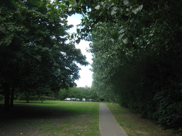 Footpath to Poverest Park
