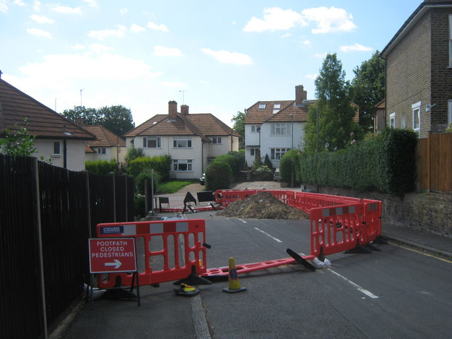 Closed road in Orpington