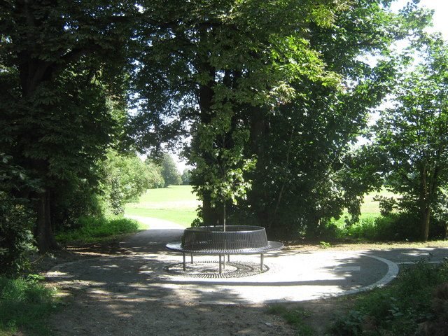 Tree bench in Goddington Park