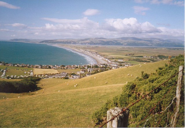 Upper Borth Fields and Borth Coastline