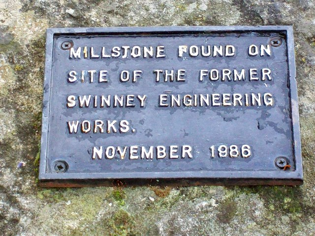 The Swinney Engineering works Millstone Plaque