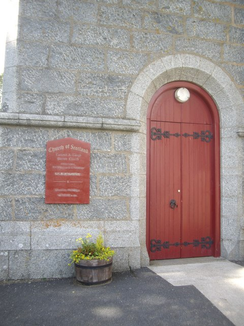 Entrance to Cushnie & Tough Parish Church
