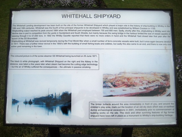 Former Whitehall Shipyard information board