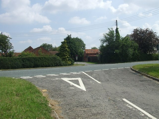 Junction of Unnamed Lane with A158