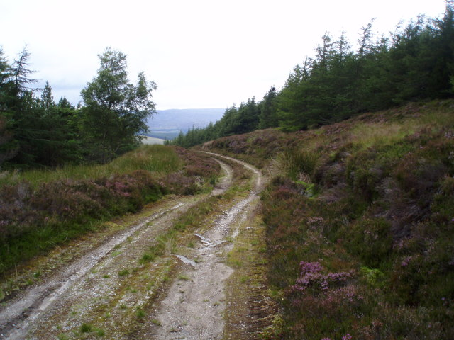 Track going up Meall Mor
