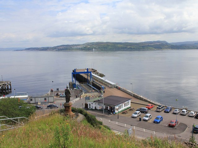 The ferry pier, Dunoon