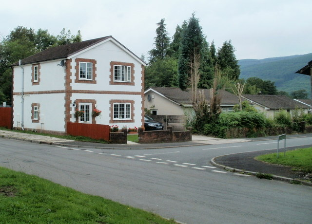 Corner of Tan-y-rhiw Road and Maes-y-tyra, Resolven