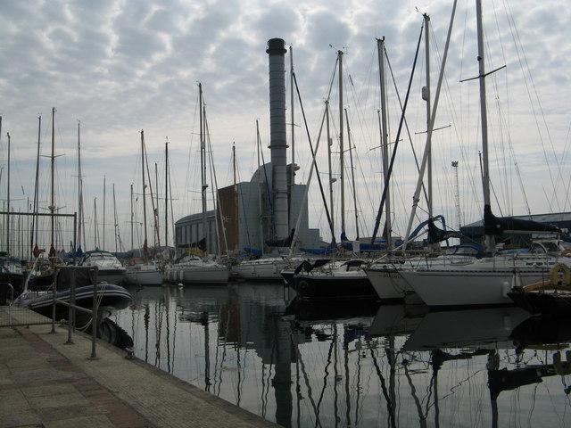 Shoreham Marina with the Power Station behind