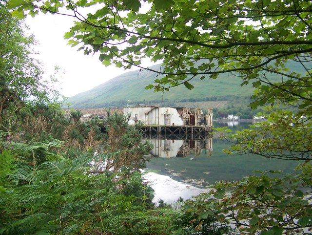 Remains of torpedo range at Arrochar