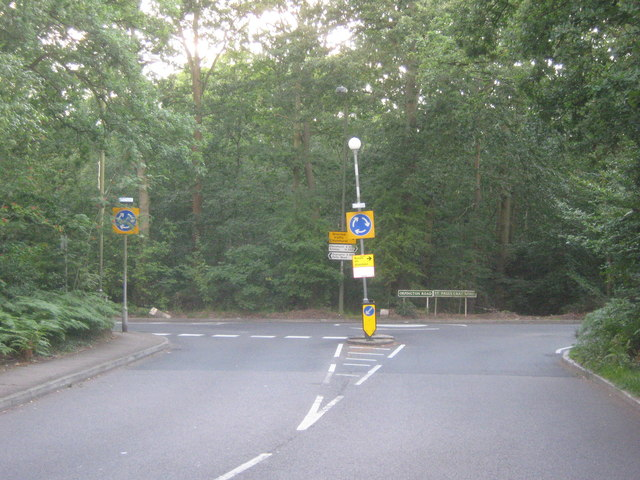 Road Junction beside St Pauls Cray Common