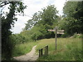 TQ4260 : Footpath junction near West Kent Golf Course by David Anstiss