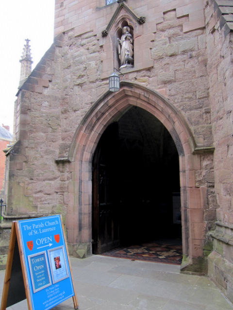 The south porch of the church of St Laurence